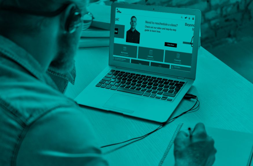 professional taking online training course